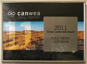Canadian Wind Energy Association Group Leadership Award