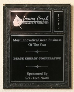 Dawson Creek Chamber of Commerce Most Innovative/Green Business of the Year