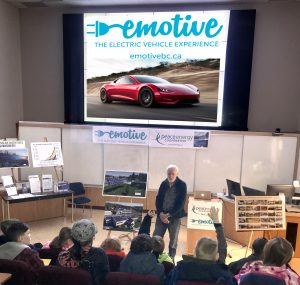 Our Solar/EV presentation at Northern Lights College, Dawson Creek, Jan/19